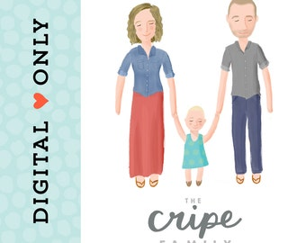 Custom Family Portrait Illustration - DIGITAL DOWNLOAD
