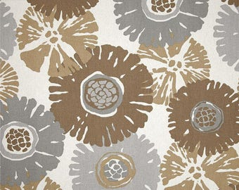Starburst Fossil, Magnolia Home Fashions - Cotton Upholstery Fabric By The Yard
