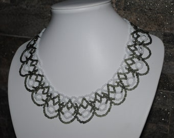 Delicate lacy necklace