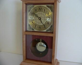 Cherry Maple and Purpleheart Mantel Clock