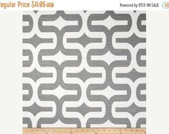 SALE Grey Geometric Fabric by the YARD Embrace Ash White slub cotton home decor upholstery curtain pillow Premier Prints SHIPsFAST