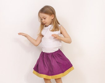 Simple pleat SKIRT pattern - easy toddler twirl skirt pattern pdf - childrens sewing patterns - INSTANT DOWNLOAD