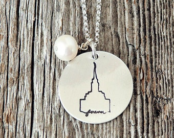 Oquirrh Mountain Temple, Temple Forever Necklace, Temple Necklace, Temple, LDS Jewelry, Mormon Charm, Temple Charms, LDS Wedding