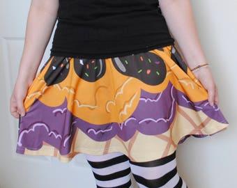Halloween Ice Cream Skater Skirt