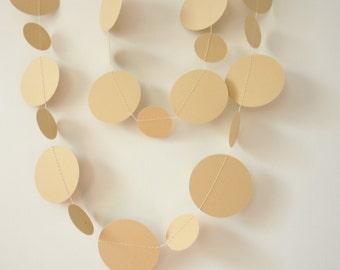 Shimmery Gold Paper Garland -  Gold Garland - Gold Wedding Decor