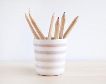Ceramic pencil holder,Colored pencil holder, Desk accessories, Ceramics & pottery, Pencil cup, Desk organization, Functional ceramic