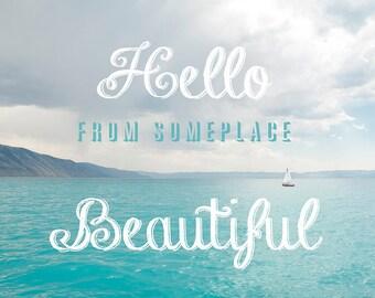 Hello Beautiful-Bear Lake Utah postcard