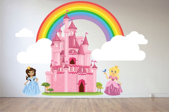 Princesses and a Castle Wall Decal by takijuleiDecals