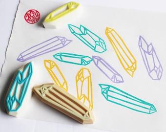 crystal quartz rubber stamps | gemstone stamp | birthday wedding christmas crafts | diy card making | hand carved by talktothesun | set of 3