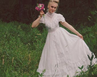 Gunne Sax Dress / Bohemian Wedding / Boho Wedding /Gunnie Sax / Jessicas Gunnes / Vintage Wedding Dress / Romantic Dress / 1980s Wedding
