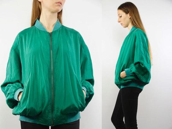 Bomber Jacket Silk / Bomber Jacket / Silk Jacket / Bomber Jacket Green / Balloon Jacket Green / Balloon Jacket Silk / Baseball Jacket / Silk
