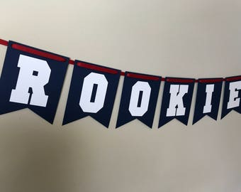 Rookie of the year, rookie of the year banner, baseball banner, baseball birthday, baseball party, baseball sign, baseball decoration