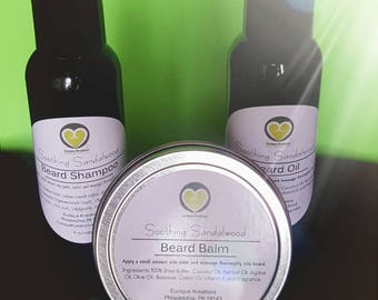 Men's Clarfying Beard Shampoo and Conditioning Beard Balm Set