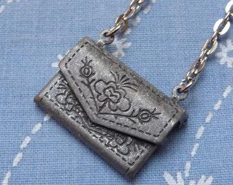 Envelope Pendant Necklace