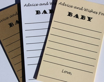 20 Baby Shower Wish Cards Baby Neutral Baby Shower Baby Wish Tag Baby Boy Wish Card Manila Baby Girl Wish Card Baby Wish Tag Baby Wishes