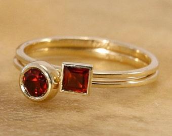 Garnet engagement ring color engagement ring modern engagement ring unusual engagement ring contemporary engagement ring
