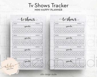 TV Shows, MINI Happy Planner, Tv Shows Tracker, Mini Mambi, Printable Planner, Tv Tracker,  MAMBI Inserts, Happy Planner Printable