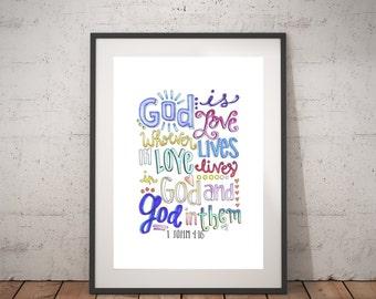 God Is Love-- 1 John 4:16