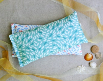 Eye Pillow, Lavender and Flax Seed Eye Pillow - Coastal Theme Scented Gift Relaxation Yoga Meditation