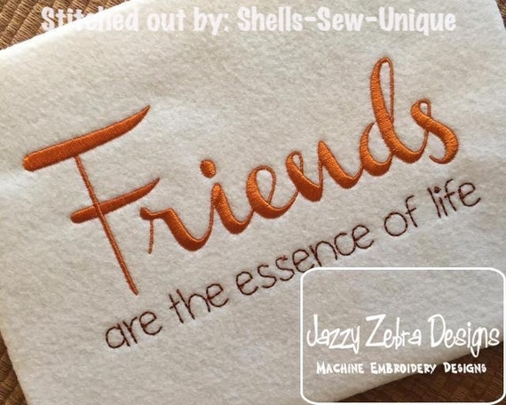 Friends Saying Embroidery Design - friends Embroidery Design - friend saying Embroidery Design