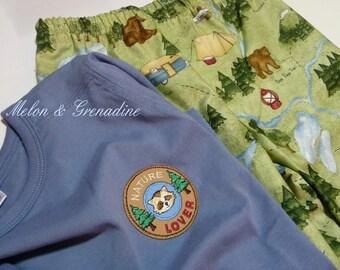 Pajama boy fancy camping & nature - 6 years