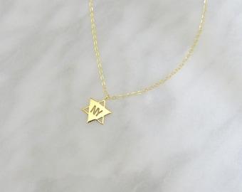 New York Star of David Necklace, Bracelet or Charm