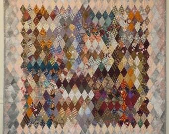 Cold Front - Diamond Pieced Art Quilt