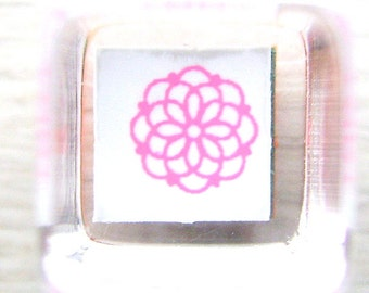 Flower Rubber Stamp - Japanese Stamp - Mini Mini Size Teeny Tiny