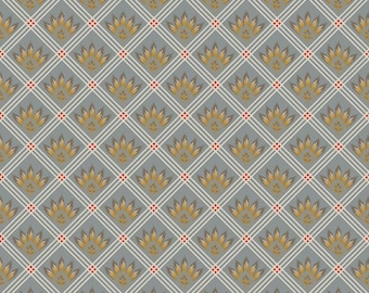 Gray Fabric by the Yard, Fall fabric, checkered fabric, gray cotton fabric,  gray quilting fabric,