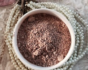 Organic French Pink Clay, Hibiscus & Hawiian Red Rose Extracts - Fine Lines/Firming/Sensitive Skin Face Masque.