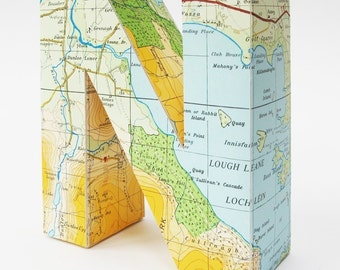 Limited edition - Vintage map of Kerry customized paper sculpture made-to-order