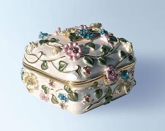Flower Box Trinket, Keepsake, Pill Box