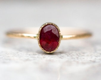 Ruby Ring, 14k gold ring, Ruby Engagement Ring, July Birthstone, Gemstone ring, Gold ruby ring, Red ruby, Birthstone jewlery