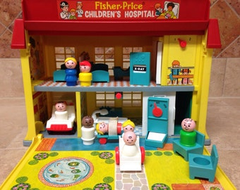 Vintage Fisher-Price Little People Play Family Hospital