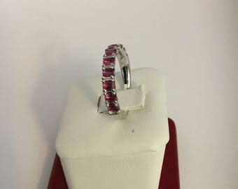 14k white gold begetter pink sapphire Ring