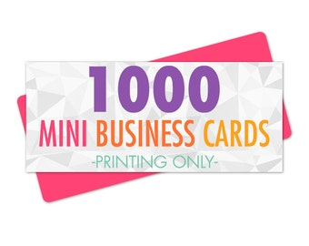 Business Cards Mini, 1000 Business Cards Printed, Business Card Printing, Glossy Business Cards, Matte Business Cards