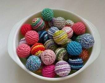 Handmade cat toy Murphy's Balls with cotton and organic catnip!