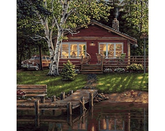 PLAID Paint by Number Kit SIMPLER TIMES 20 x 16 inches No Blending Mixing
