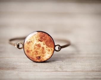 Venus Planet Bracelet, Solar System bracelet, Venus bracelet, Astronomy bracelets for women, Space Jewelry, Orange Bracelet, Space bracelet