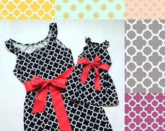 Sleeveless Matching Dresses - Mommy and Me Dresses - Mommy and Me - Mother Daughter Dresses - Handmade - Matching Mother Daughter Outfit