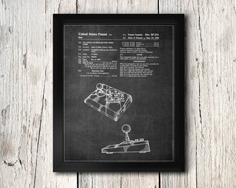 Game Joystick Patent Print - Video game Controller - Digital Download