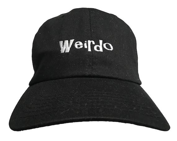Weirdo (Ball Cap - Black Embroidered with White Stitching)