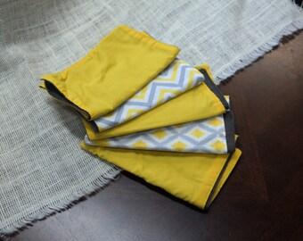 Gender neutral burp cloths / yellow burp cloth / yellow burp rag / Yellow burp cloth sets
