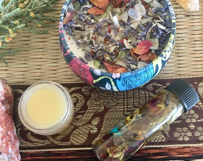 2018 Manifesting Oil & Candle Bundle | Wishing Oil charged with Super Moon oil | Fixed Blessed Candle | high vibration intention, love