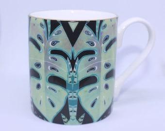 Fine china Jungle Leaf Mug