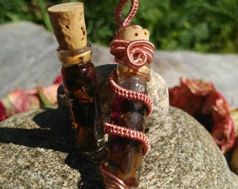 Wire-woven and Wrapped Amulet - Grounding