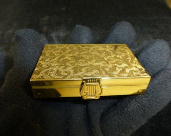 Vintage Reuge Miniature Music Box Powder Compact Fully Cleaned And Serviced Works Beautifully