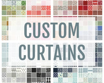 ONE Custom Drapery Curtain Panel. Single Curtain Panel. Between 26 to 50 Inch Width. Choose the Width and Length and Fabric.