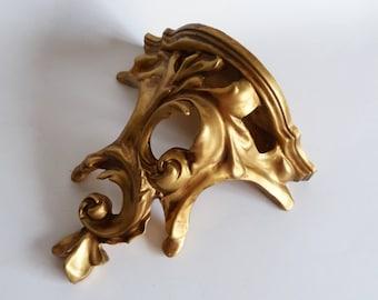 Gold Baroque Scroll Resin Wall Shelf