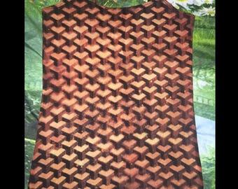 Geometric Cube Pattern Shirt